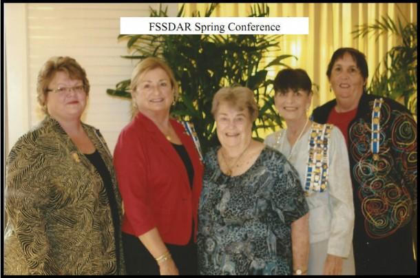 2013 FSSDAR Spring Conference attendees Sharon Paugh, Lynne Jensen, Reba Shepard, Colleen Kimball and Joyce Menard