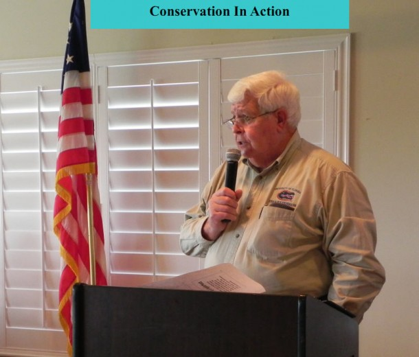 Fred Burkey of Martin County Extension Agency speaks on Florida conservation including protecting the Indian River Lagoon