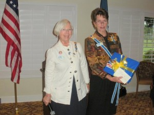 Vice Regent Esther Twitchell and State Regent Cynthia Wolfe Symanek