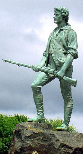 Minuteman statue in Lexington, Massachusetts