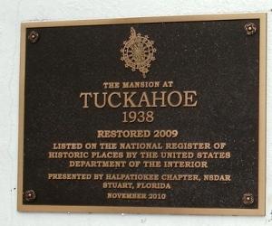 Tuckahoe Historic Marker Jensen Beach, Florida