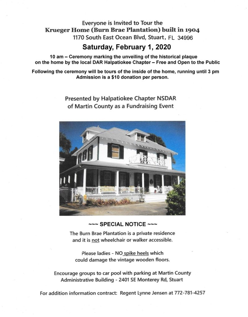 Krueger House Tour and Marker Unveiling